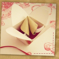 Origami Fortune Cookie in a Mini Take Out Box