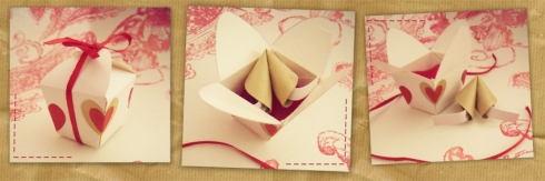 Origami Fortune Cookie in a Mini Take Out Box | Handmade - photo#40