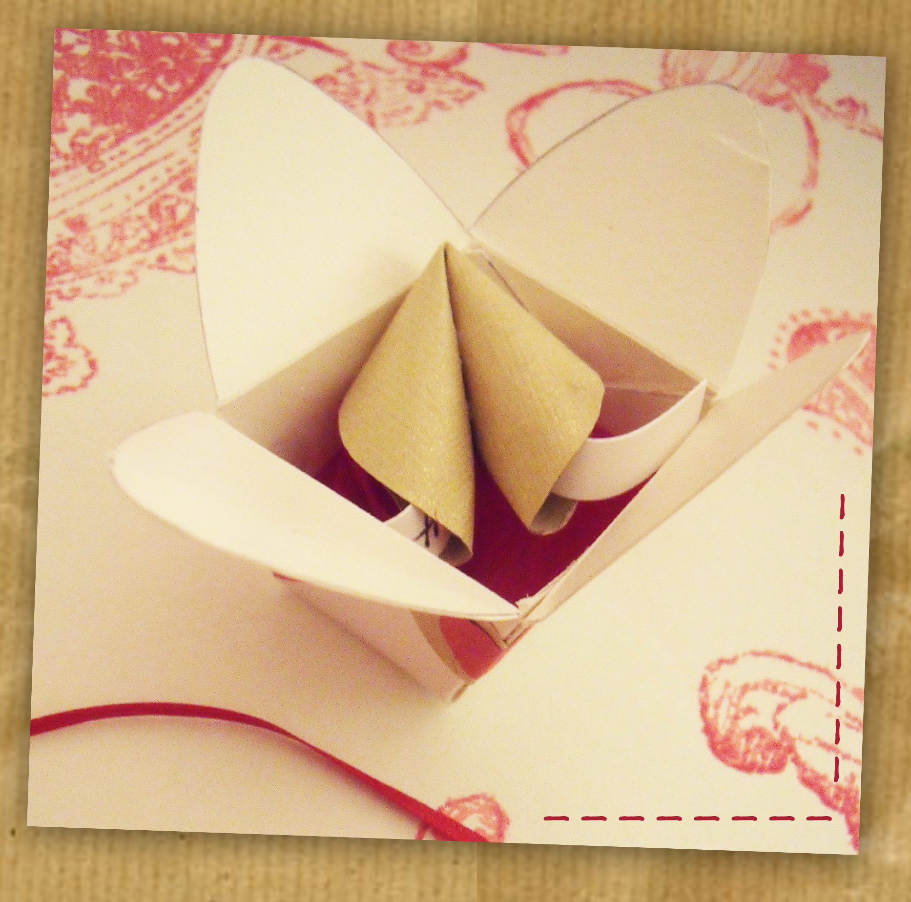 origami fortune cookie in a mini take out box handmade