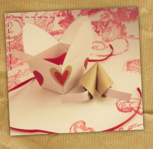 origami fortune cookie
