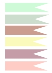pastel cupcake toppers template