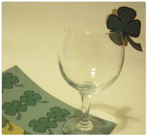 st patricks day glass decoration free template