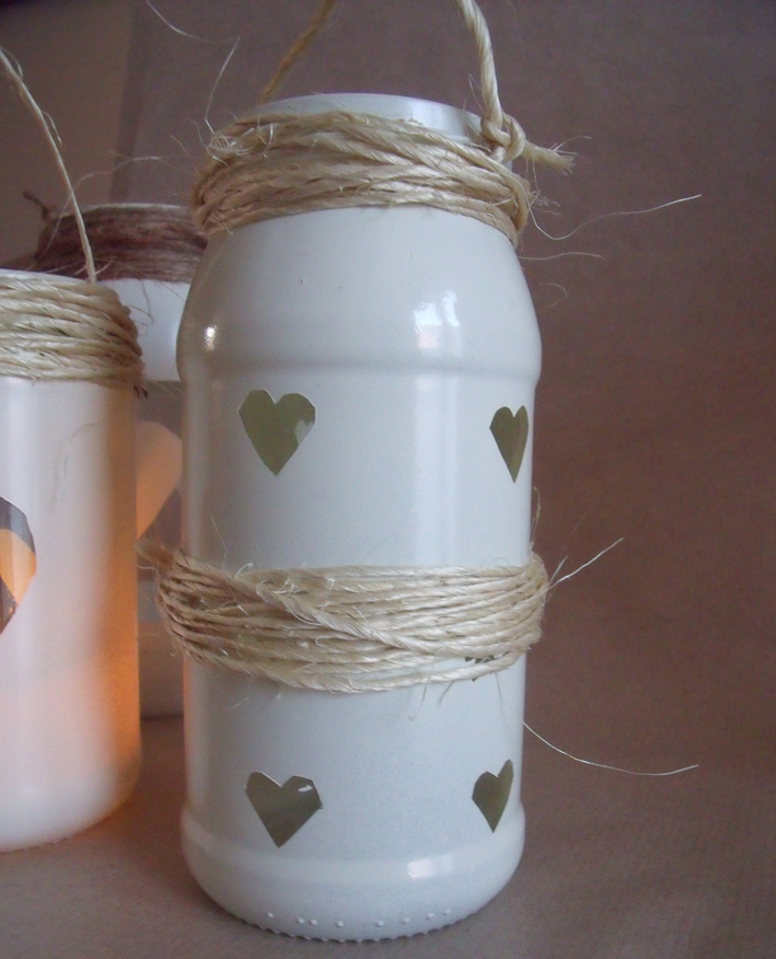 handmade lantern glass jars