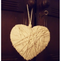 How to make a string heart charm decoration...