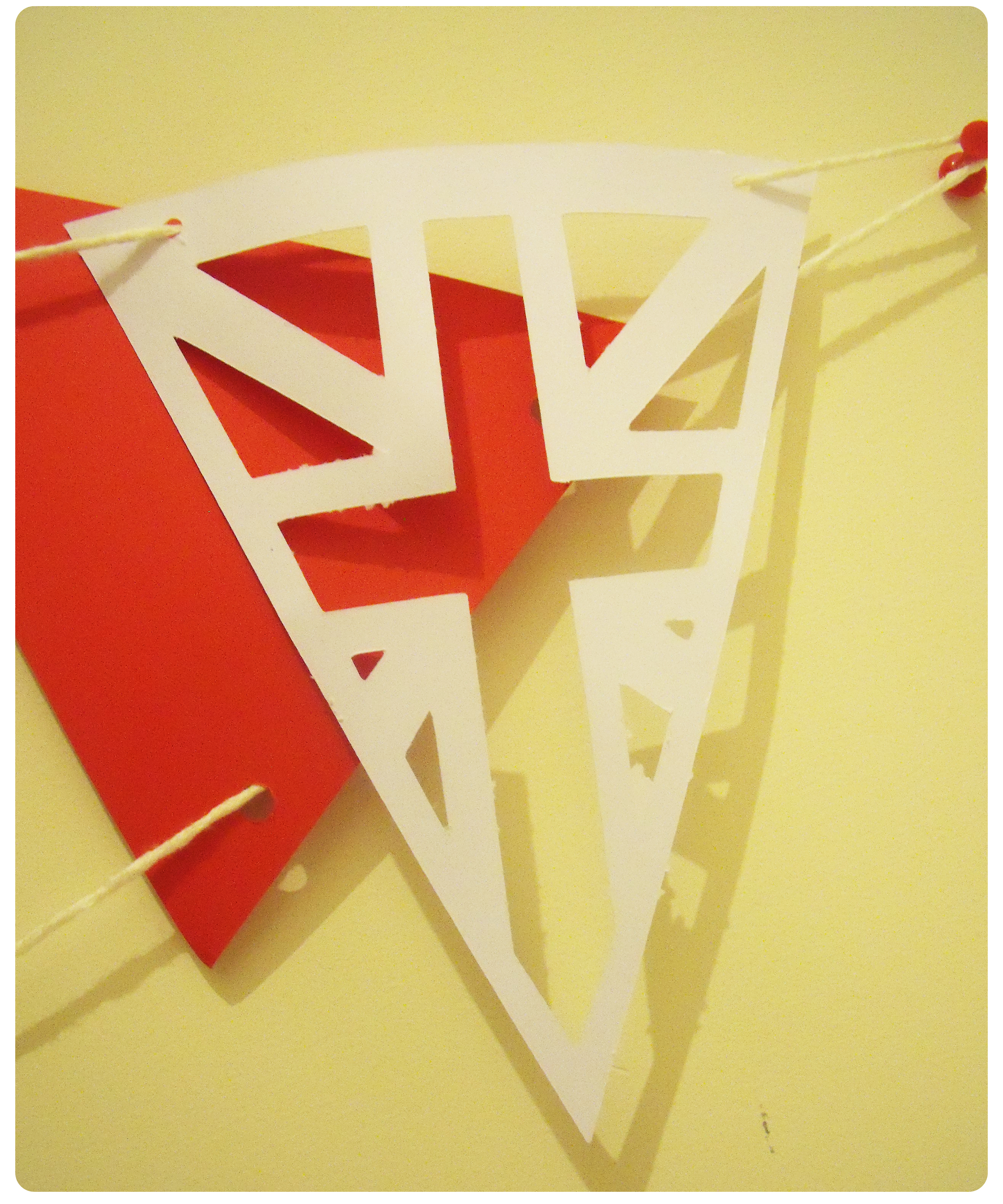 diamond jubilee handmade bunting free vector image