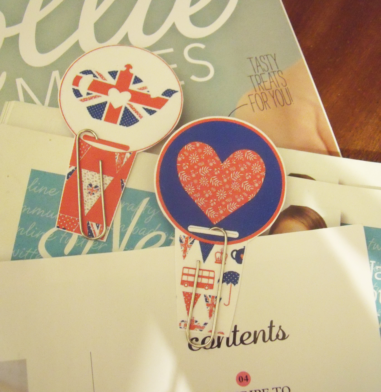 handmade paper clip bookmarks
