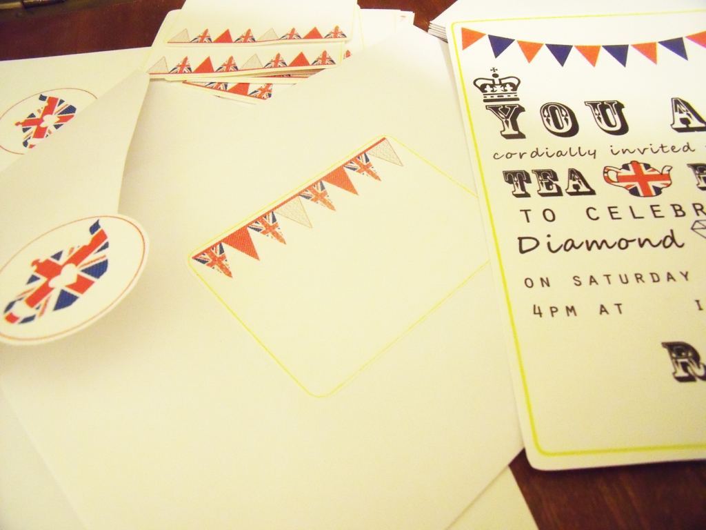 free printable diamond jubilee tea party invites