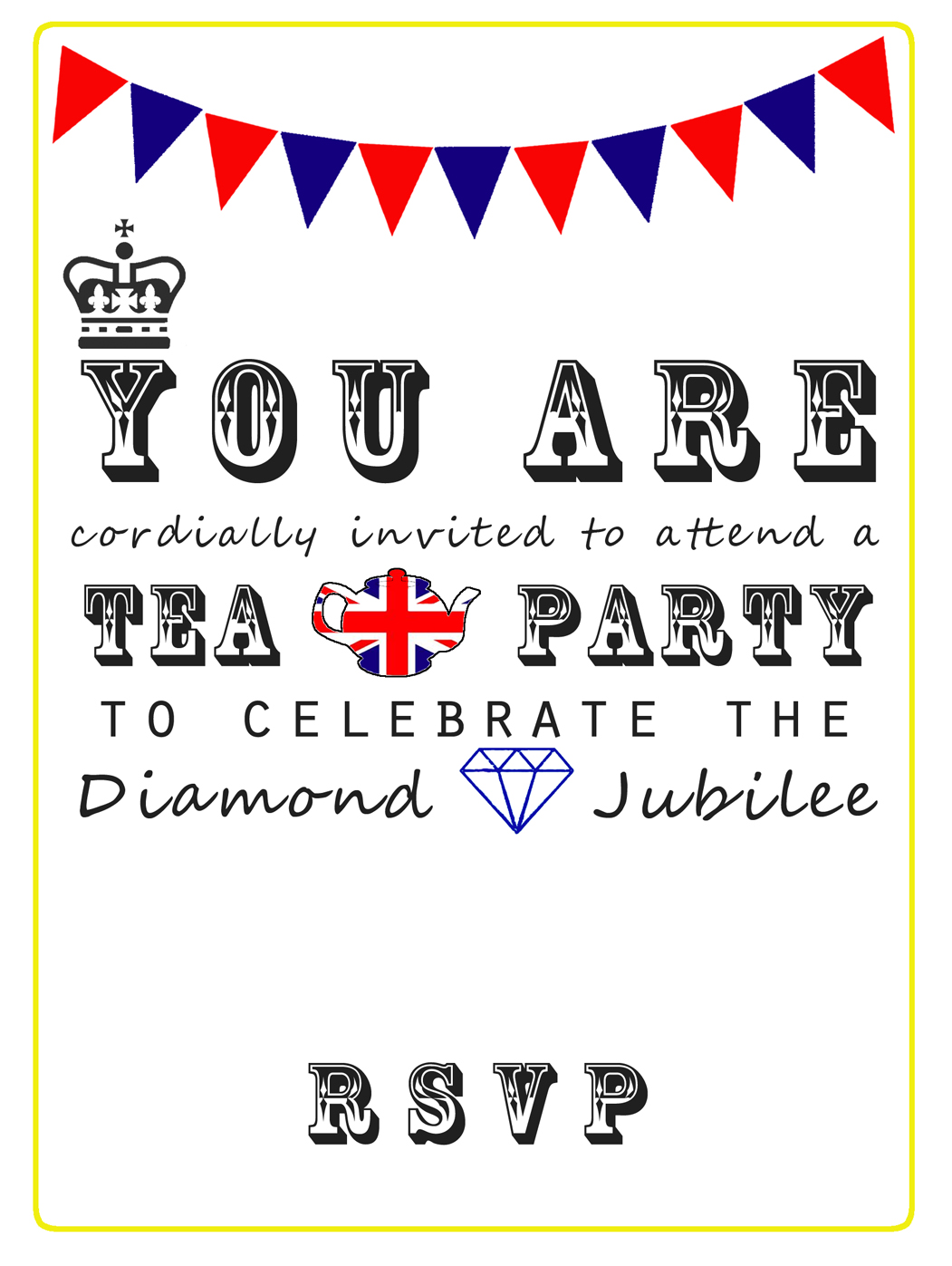 The Queen\'s Diamond Jubilee Tea Party Invitations – Free Printable ...