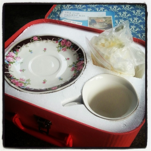 tea cup candle kit