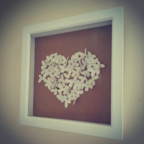 3d butterfly love heart picture