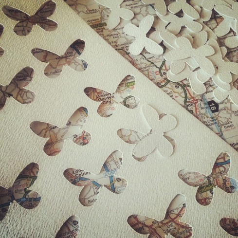 dye cutting butterflies